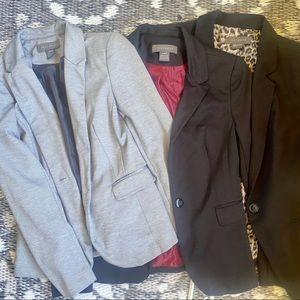 3 Suzy Shier Black and Grey Blazers Size Small EUC